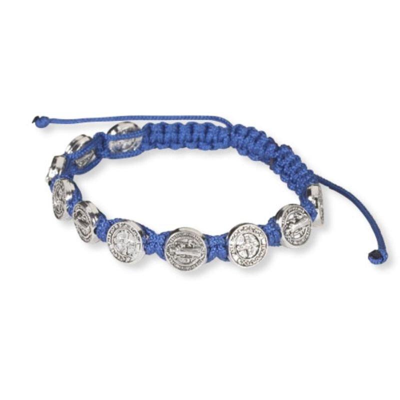 St. Benedict Blue Cord Bracelet - 12/pk