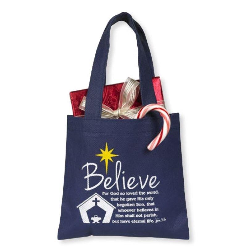 Believe Gift Tote Bag - 24/pk