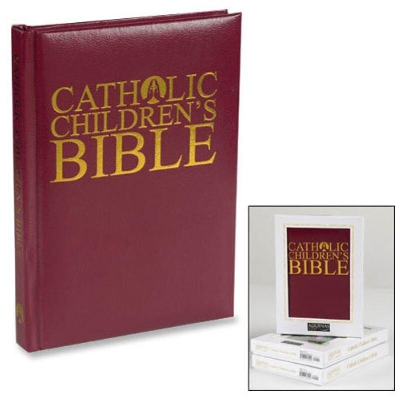 Illustrated Children's Bible - Gift Edition, Burgundy