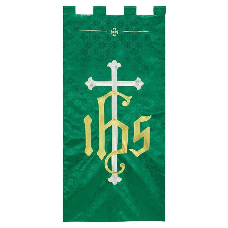 Maltese Jacquard Banner - Green