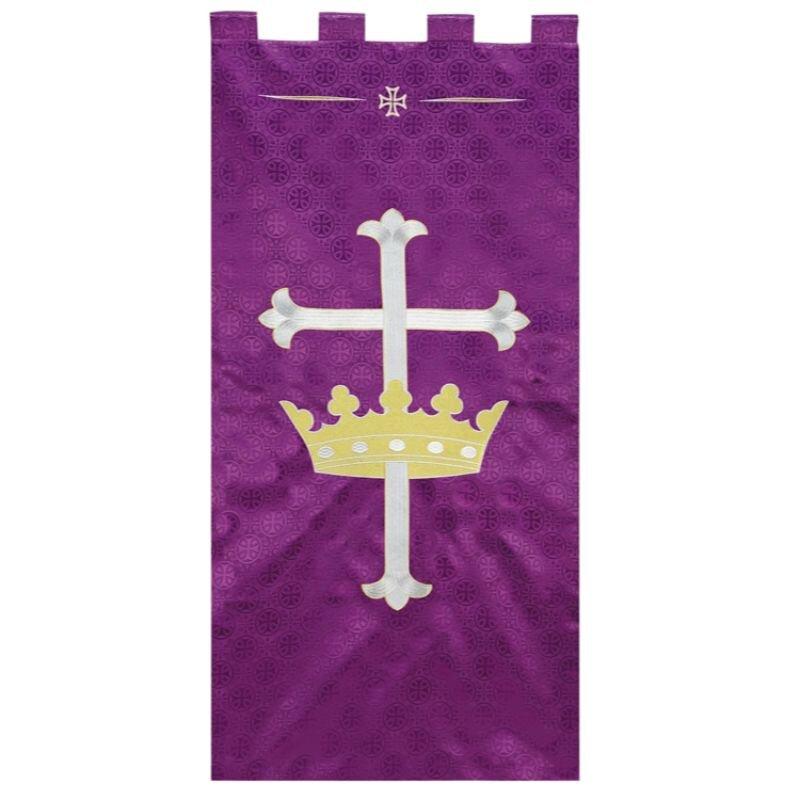 Maltese Jacquard Banner - Purple