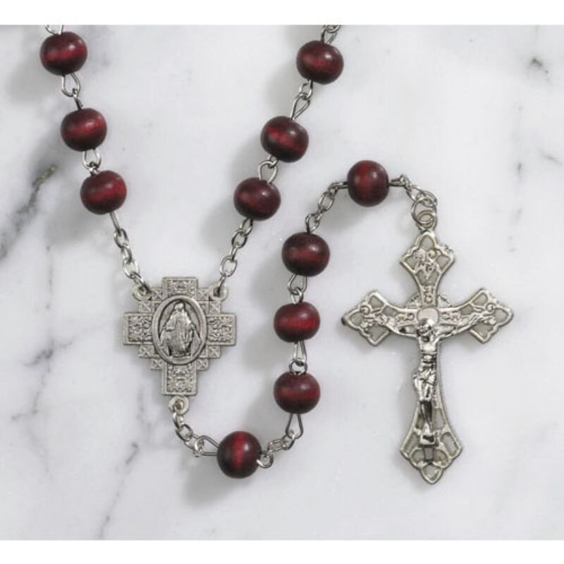 Red Rose Scented Rosary - 12/pk