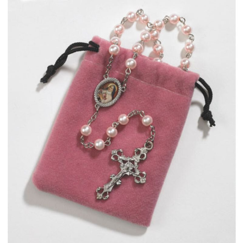 St. Therese Rosary with Case