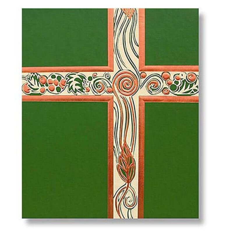 Ceremonial Green with Copper Foil Service Binder