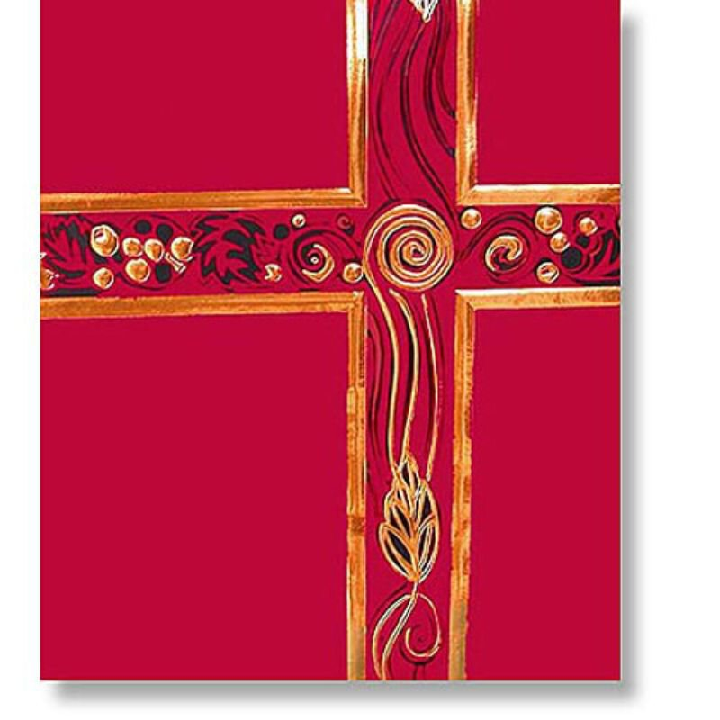 Ceremonial Red with Gold Foil Service Binder
