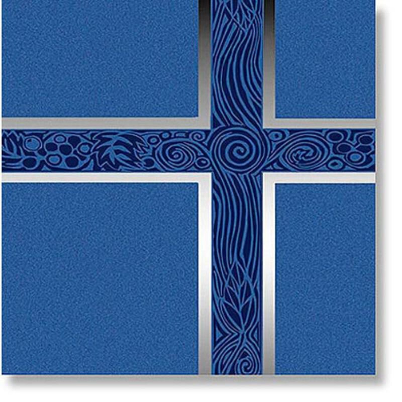 Ceremonial Blue with Silver Foil Service Binder
