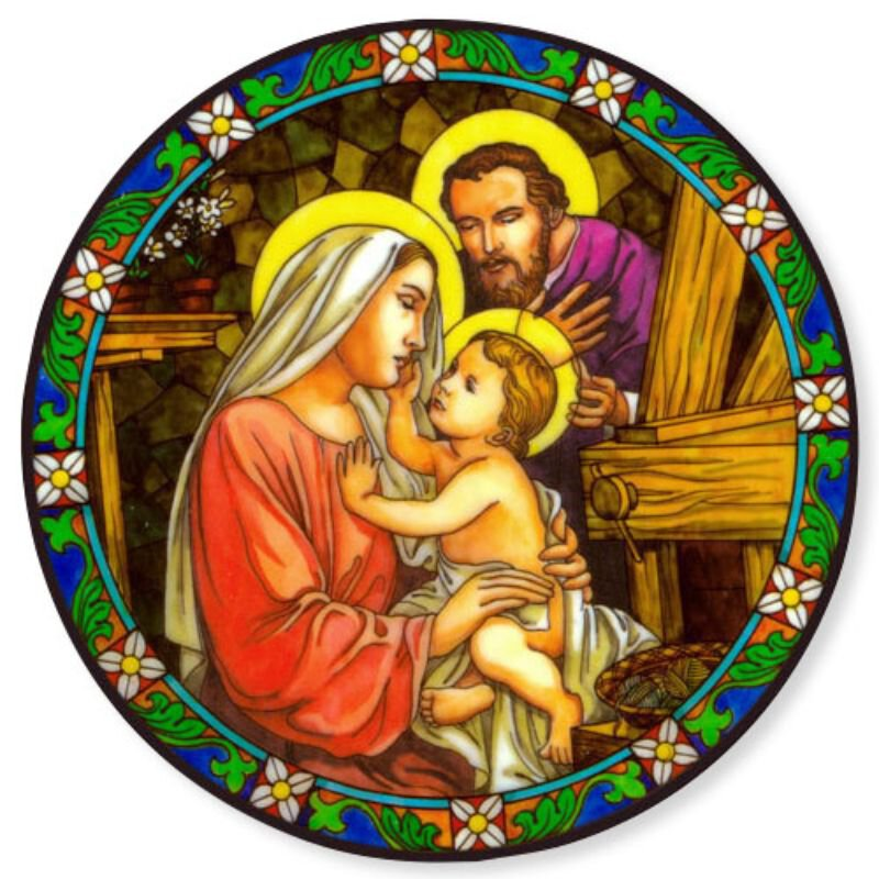 Holy Family Static Stickers