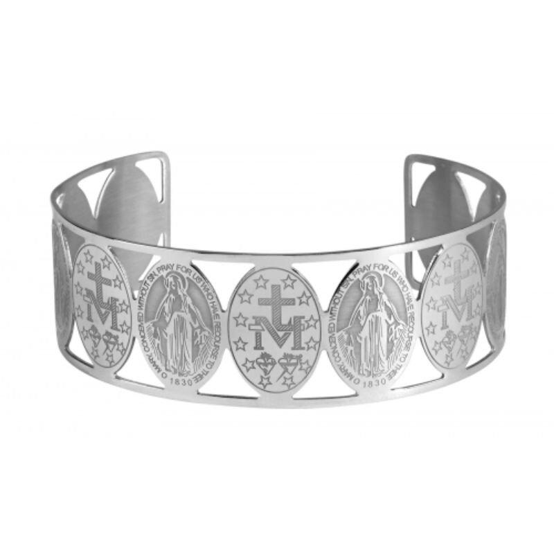 Miraculous Stainless Steel Medal Bracelet - 4/pk