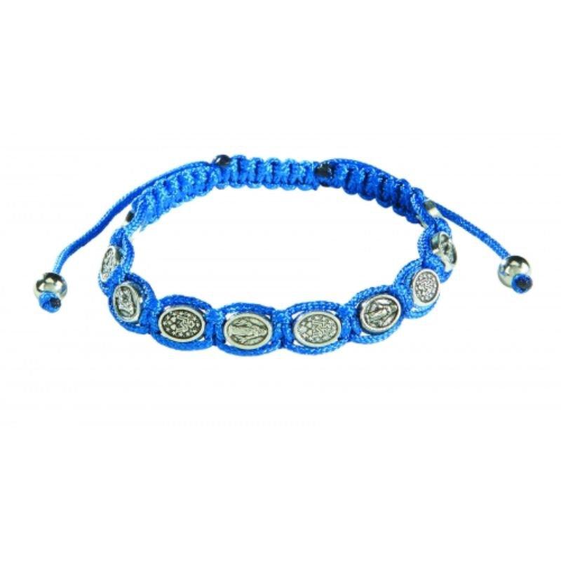 Miraculous Medal Macrame Bracelet - 12/pk