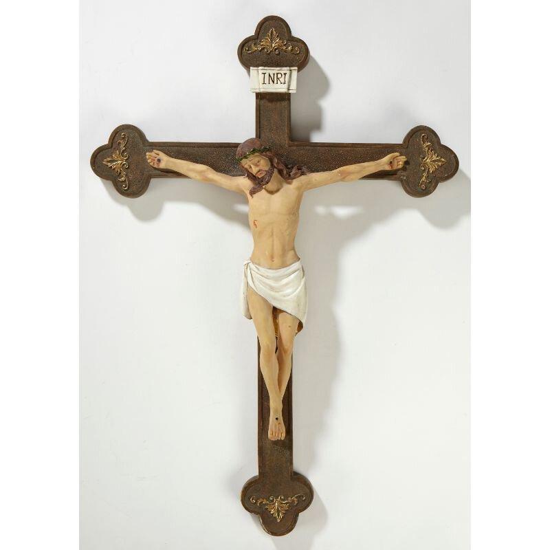 """14 1/2"""" Budded Wall Crucifix - 2/pk"""