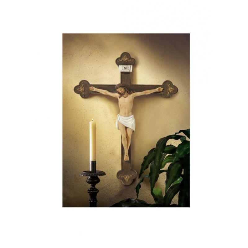 """20"""" Budded Wall Crucifix"""