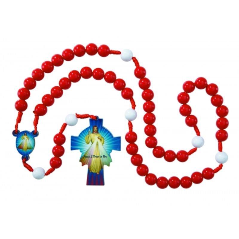 Divine Mercy Wooden Rosary - 6/pk