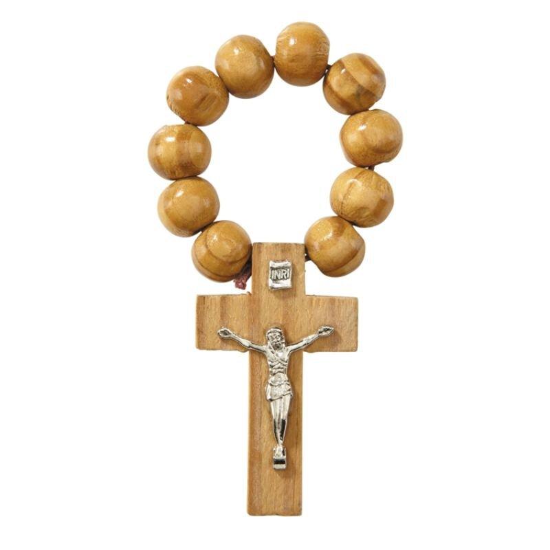 Wood Rosary Ring - 24/pk