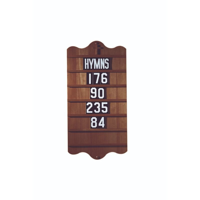 """Hymn Board with 5 Sets of Numerals & """"Hymns"""""""