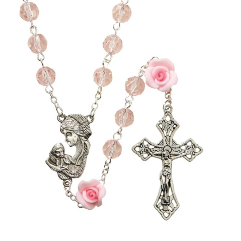 Madonna and Child Rose Rosary