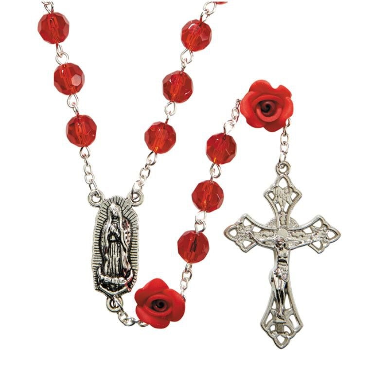 Our Lady of Guadalupe Rose Rosary - 3/pk