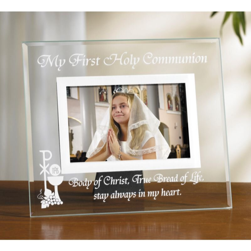 Body of Christ Glass First Communion Photo Frame -6/pk