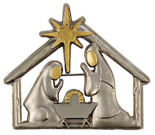 Nativity Christmas Lapel Pin - 6/pk