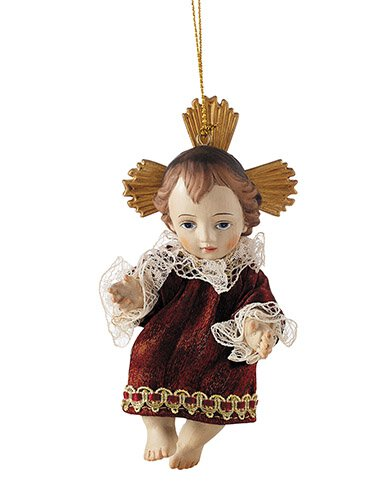 Infant Jesus with Gown Ornament - 3/pk