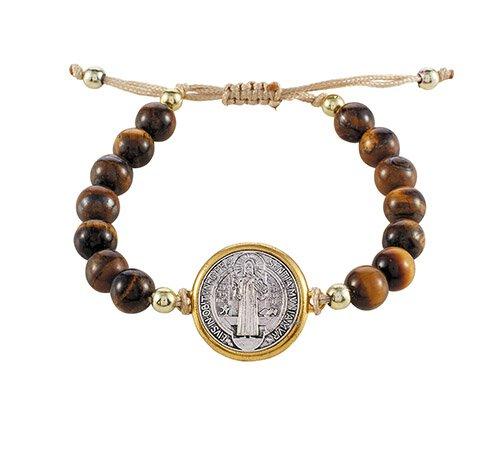 St. Benedict Tiger's Eye Bracelet - 3/pk