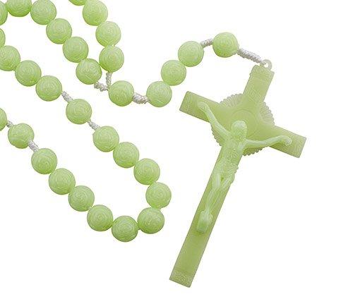 Luminous Rosebud Bead Wall Rosary - 3/pk