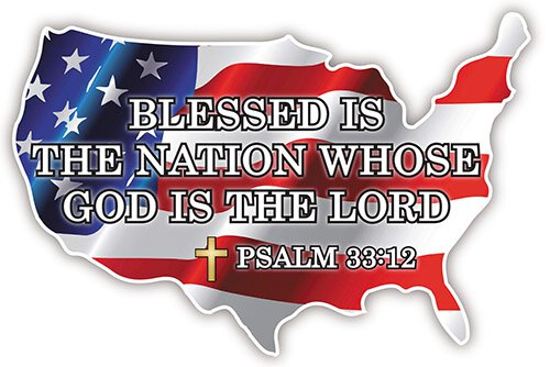 Blessed is the Nation Auto Magnet - 24/pk