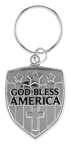 God Bless America Key Chain - 12/pk