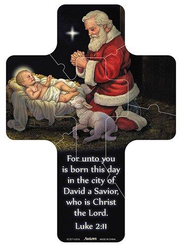 Adoring Santa Magnetic Cross Puzzle - 24/pk