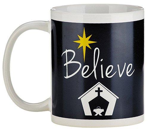 Believe Christmas Mug - 12/pk