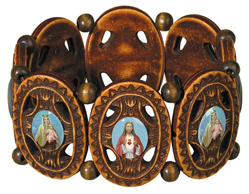 Ornate Scapular Bracelet - 12/pk
