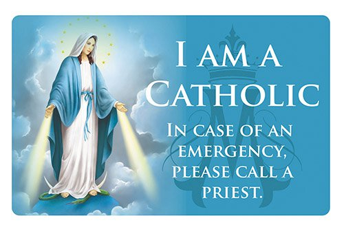 Blessed Mother Catholic ID Card - 25/pk