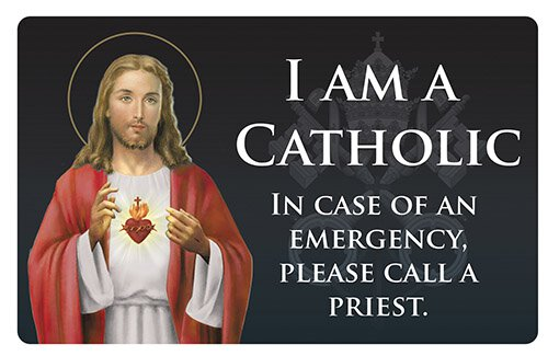 Sacred Heart Catholic ID Card - 25/pk