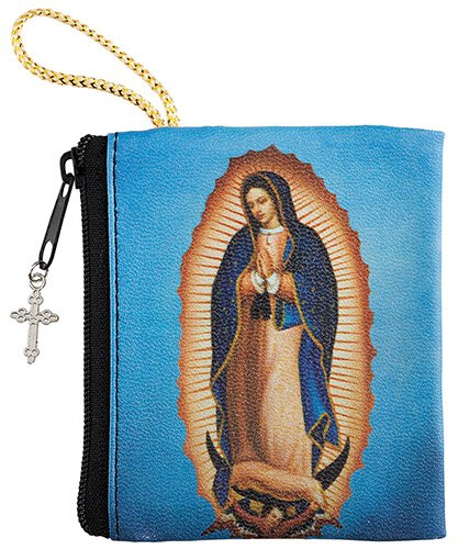 Our Lady of Guadalupe  Zipper Rosary Case - 12/pk