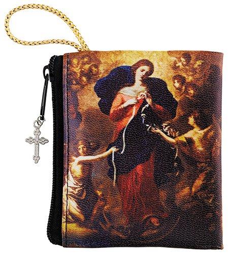 Mary, Untier of Knots Zipper Rosary Case - 12/pk