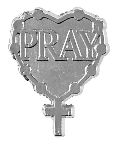 Pray Rosary Lapel Pin - 50/pk