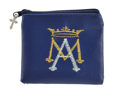 Ave Maria Embroidered Rosary Case - 12/pk
