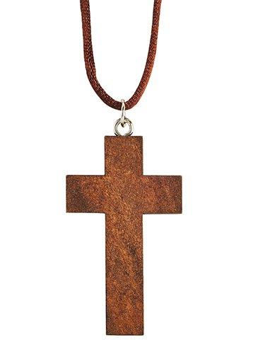 Wood Cross Pendant - 18/pk