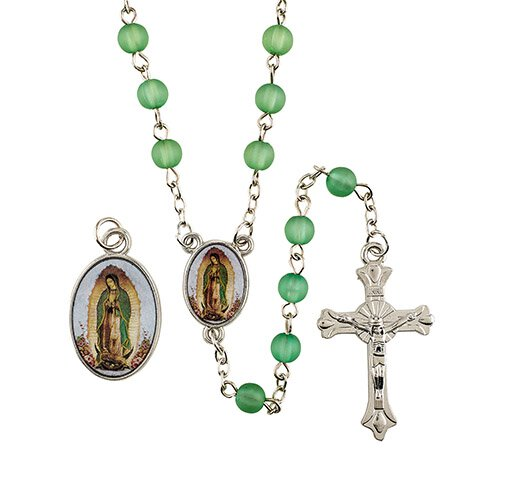 Our Lady of Guadalupe Medal & Rosary Set - 12/pk