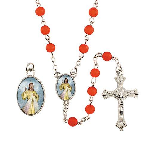 Divine Mercy Medal & Rosary Set - 12/pk