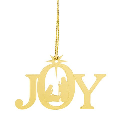 JOY Brass Nativity Ornament - 24/pk