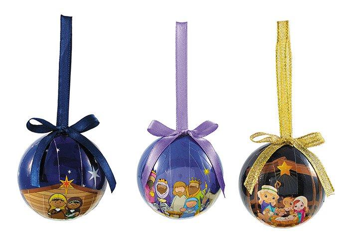 Children's Decoupage Ornament Assortment (3 Asst) - 24/pk