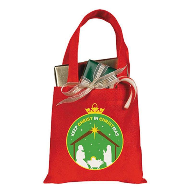 Keep Christ in Christmas Gift Tote Bag - 24/pk