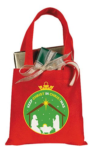 Keep Christ in Christmas Gift Tote Bag - 24/pk