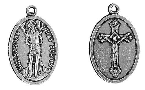 St. Sebastian Devotional Medal - 50/pk