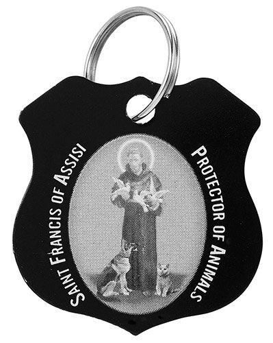 St. Francis Black Pet Medal - 12/pk