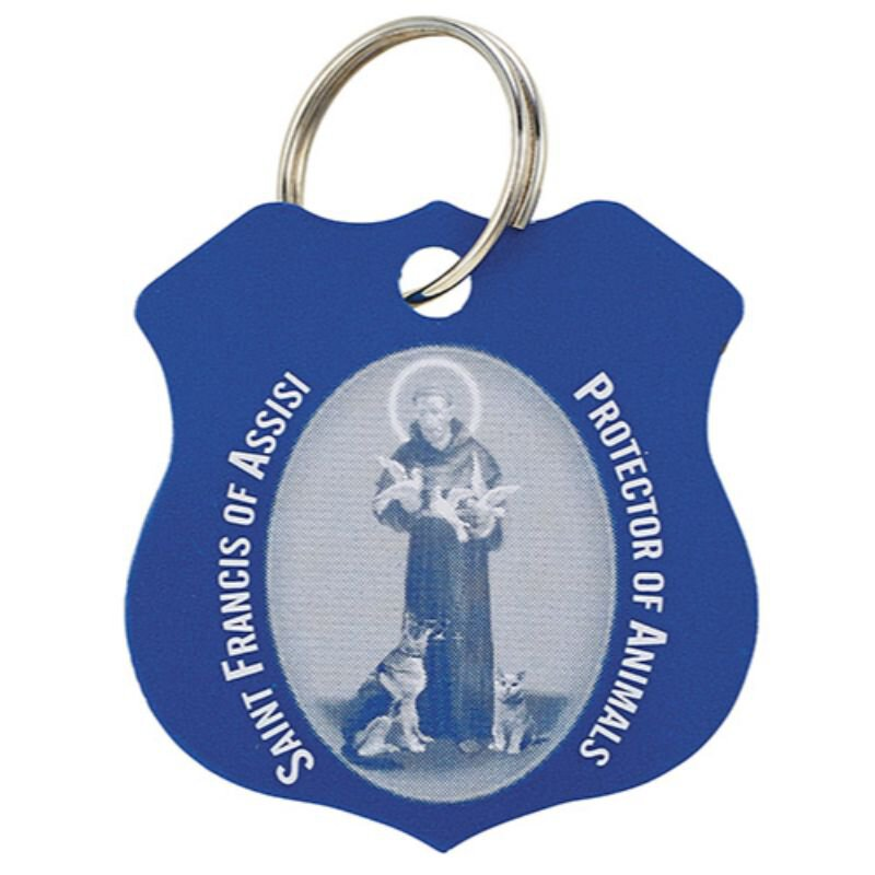 St. Francis Blue Pet Medal - 12/pk