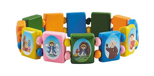 Pastel Child-Like Saints Bracelet - 12/pk