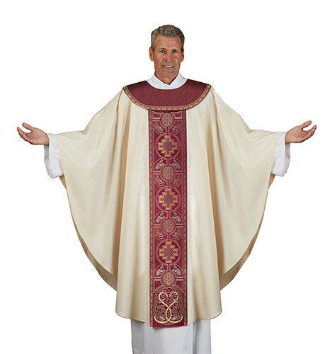 Book of Kells Chasuble - Tapestry Neckline