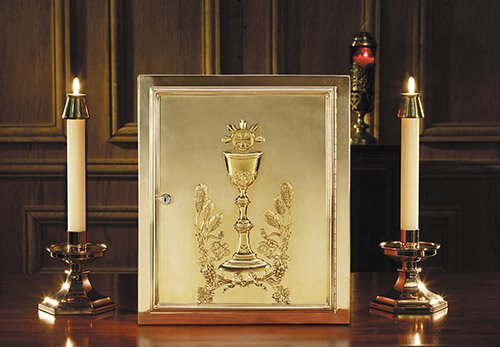 Chalice & Host Brass Tabernacle