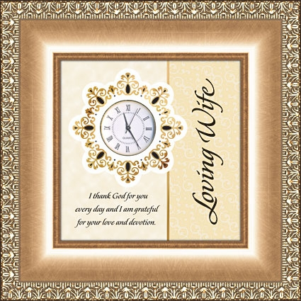 Table Clock Christian Verse - Loving Wife